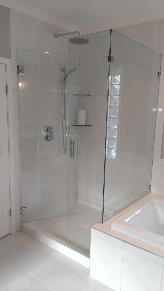 Frameless shower doors, mirrors, closet organizers and glass railing systems